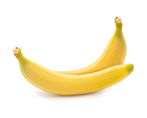 two bananas isolated on white background