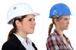 Female architect and builder