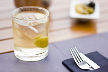 Vermouth with olives
