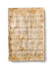 old guitar tab sheet