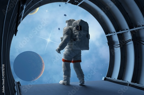 Astronaut in the tunnels - 51078708