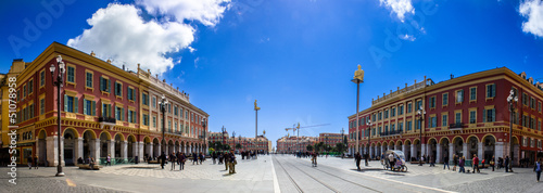 Leinwanddruck Bild Nizza piazza massena