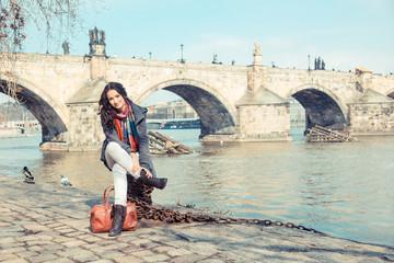 Young Russian Woman in Prague
