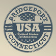 Grunge rubber stamp with name of Connecticut, Bridgeport, vector