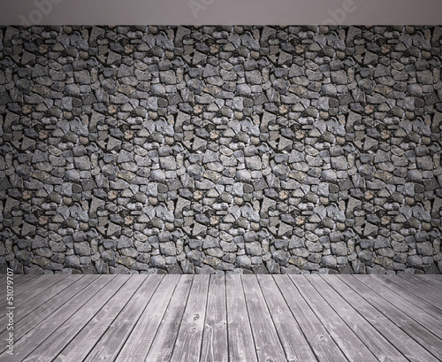 stone wall in room