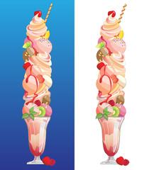 Ice Cream Sundae, giant sized.