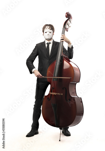 musician with mask