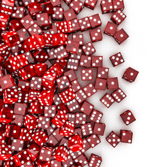 Red dice spill