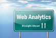 "Highway Signpost ""Web Analytics"""