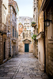 Narrow Street inside Dubrovnik Old Town © marinv
