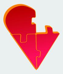 Puzzle Herz