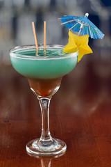 blue hawaiian tropical cocktail