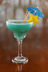 blue hawaiian tropical cocktail