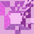 cube pink shaded frame composition vector