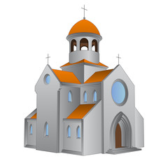 isolated ancient roman basilica for catholics vector