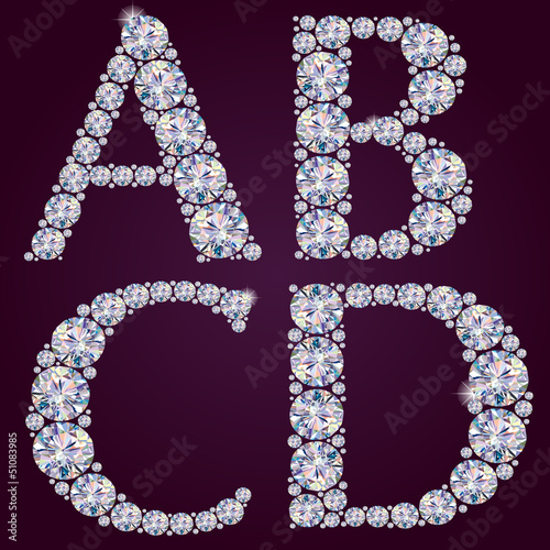 Alphabet of diamonds ABCD