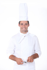 Chef sharpening knife