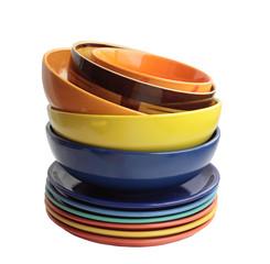 Multi-colored ware.