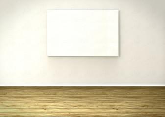 Sala con telón blanco