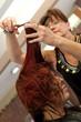 Haircut at the Salon