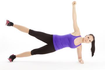 Seitliches Arm und Beinheben bei voller Körperspannung