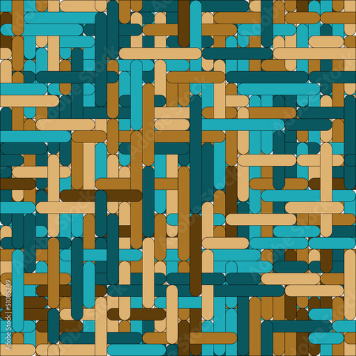 Blue-brown grid seamless