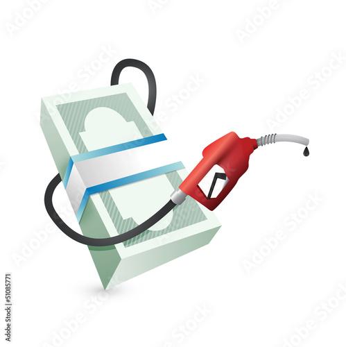 gas prices concept illustration design