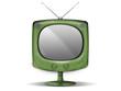 television retro sur pied