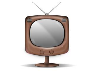 television vintage sur pied