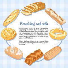 Pan y hogazas formando un marco
