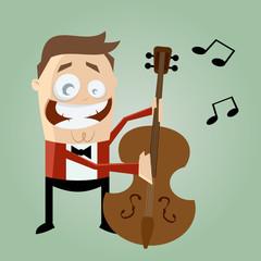 musiker bass kontrabass
