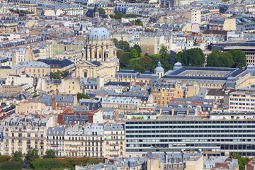 City view in Paris, France