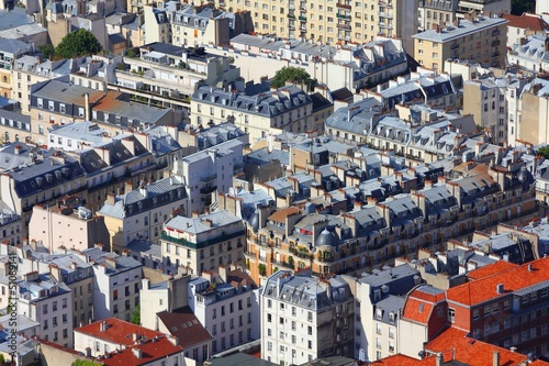 Apartment buildings in Paris, France