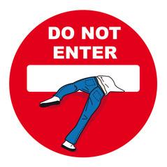 panneau, interdit, privé, interdiction, entrer, sens interdit,