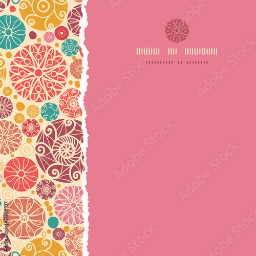 Vector abstract decorative circles square torn seamless pattern