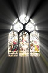 Buntes Kirchenfenster