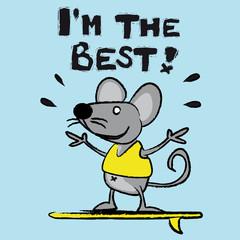 souris, rat, surfer,surf, personnage, bande dessinée