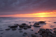 Sunrise over the baltic ocean, wide angle photo