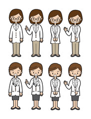 働く人(医師、薬剤師)