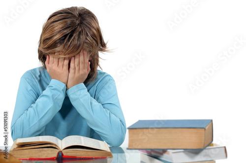 Child revising