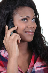 Portrait of a woman on phone