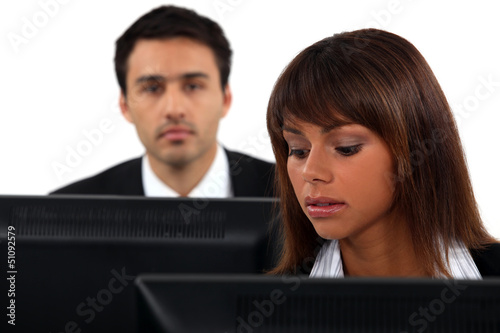 Employees sitting in front of their computers