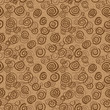 Vector abstract chocolate pattern - seamless background