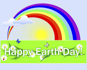 Earth Day banner.