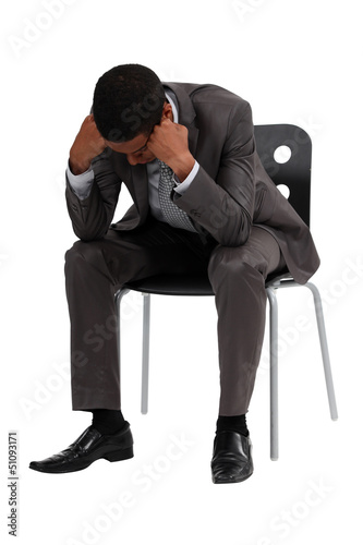 businessman in depression