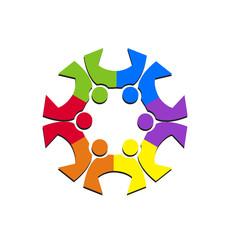 Team social people logo in nice colors