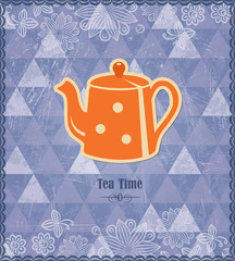 Tea time vintage pattern