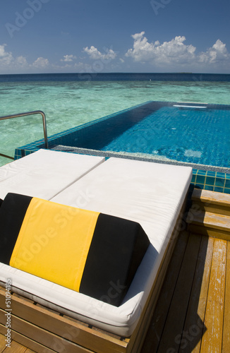 Pool at Maldives