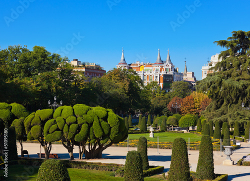 Park of the Pleasant Retreat in Madrid Spain