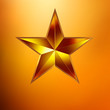 Illustration of a Gold star on gold. EPS 8
